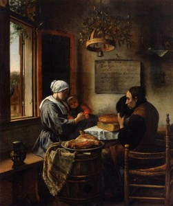 Prayer before meal by Jan Steen - 1660